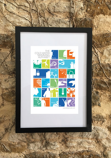 Cold Water Swimming Alphabet Poster