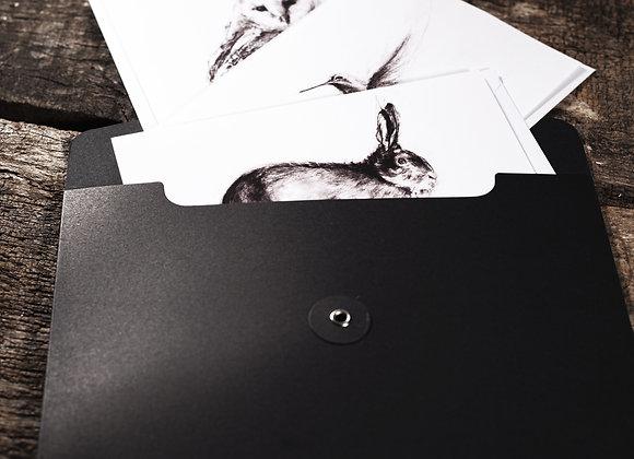 Folder of eight cards