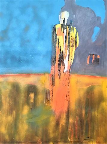 Modern Man, 40x30.25 acrylic on canvas,