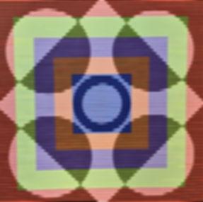 #8116, 36x36 acrylic on canvas, 1981, Ga