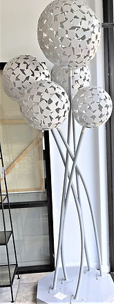 Five Orbs Silver, 40 diam x 7 steel and