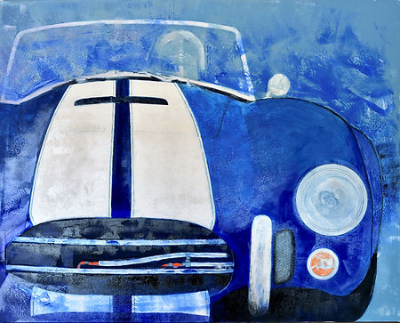 Shelby Cobra, 48x60 original mixed media