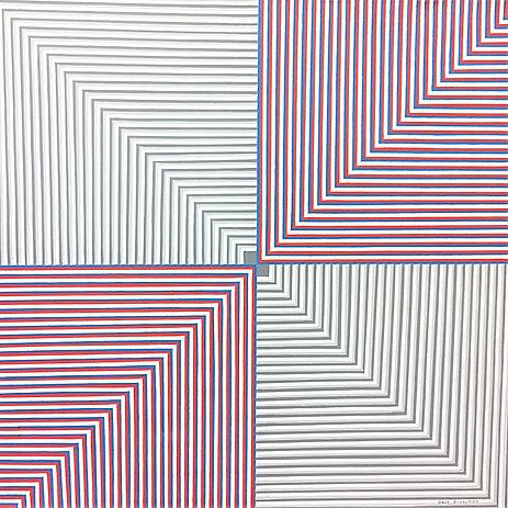 #8702, 36x36 acrylic on canvas, Gabe Sil