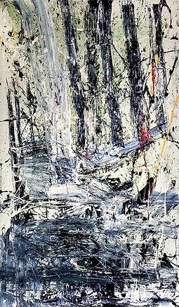 Ingrid Cohen, Entropy, 72x42 mixed media on canvas.jpg