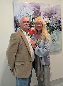 Gallery Owner Dede Sweet  with Artist Al