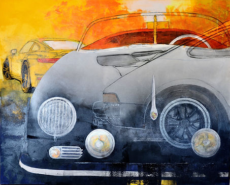 Porsche Legends,  48x60 original mixed m