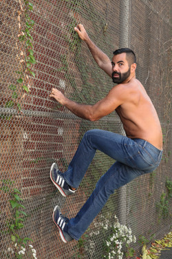 Tarek on the fence