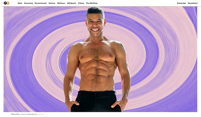 Wilson Cruz GQ by Stefan Mreczko