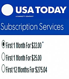 USA Today e- newspaper Subscription