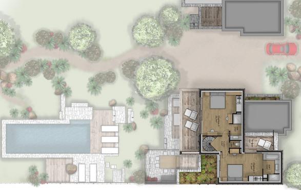 Plan villa type 5 - R+1