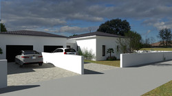Vue entrée-garage