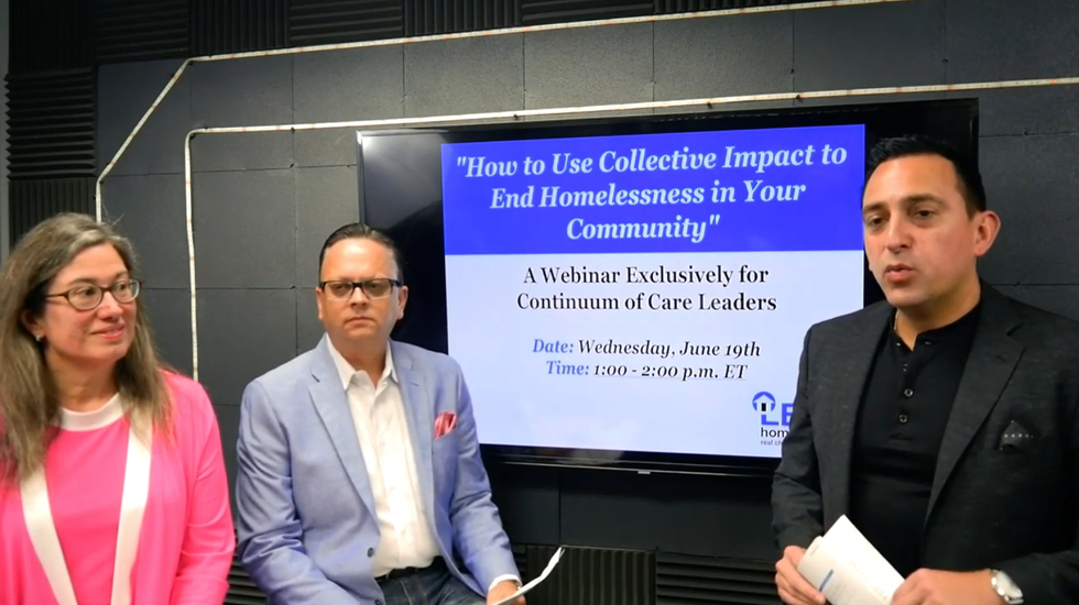 """Lead Homelessness' Webinar: """"How a Continuum of Care can Use Collective Impact to End Homelessness"""