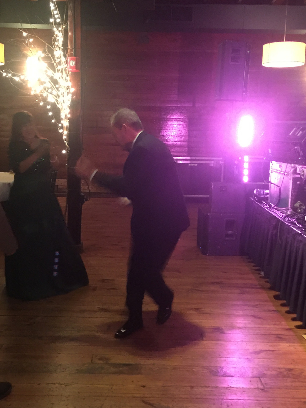 Father of the bride heating up the dance floor!!!!! Go Dad!!!