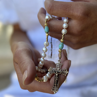 UPON HIS PALMS ROSARY
