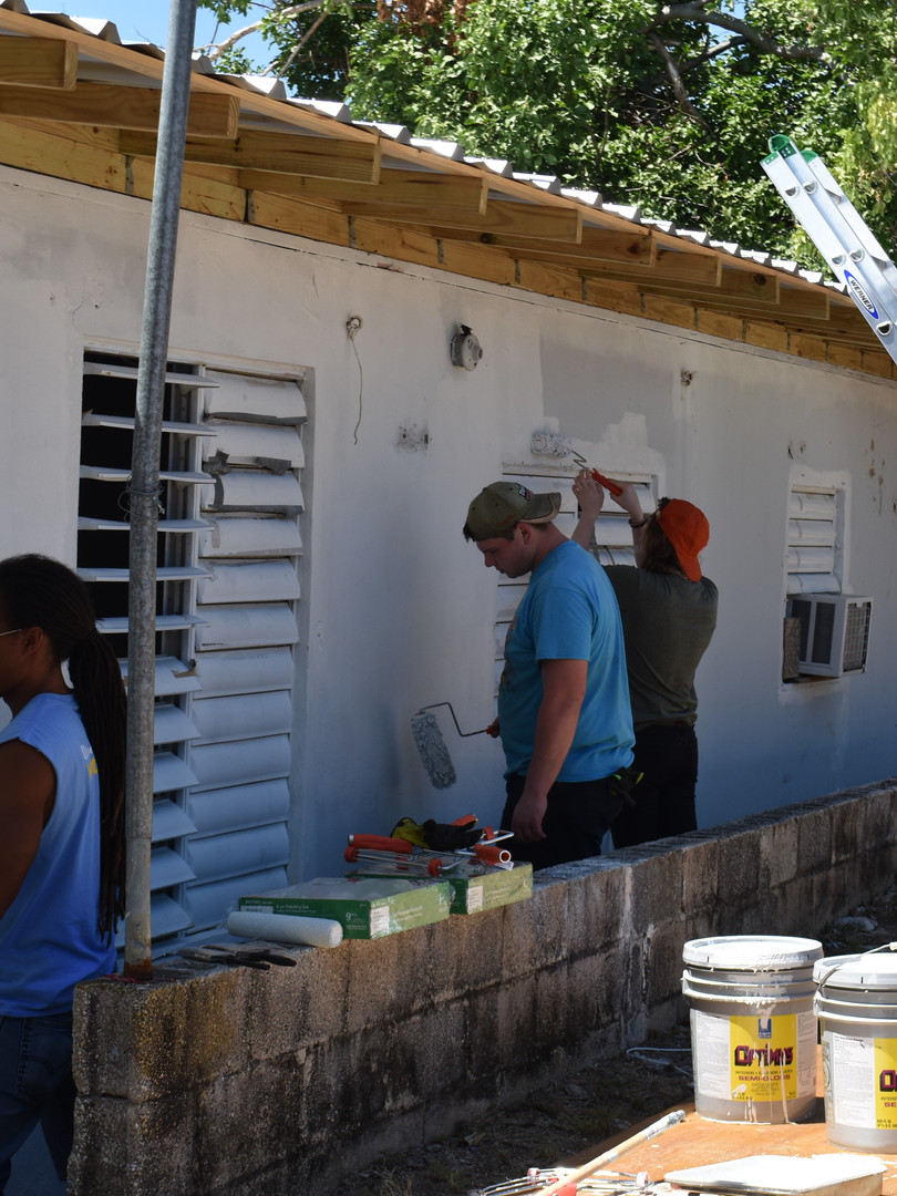 Painting houses in Puerto Rico