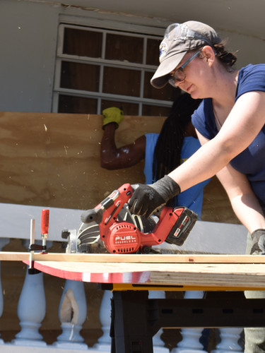 Repairing homes in Puerto Rico following disaster relief