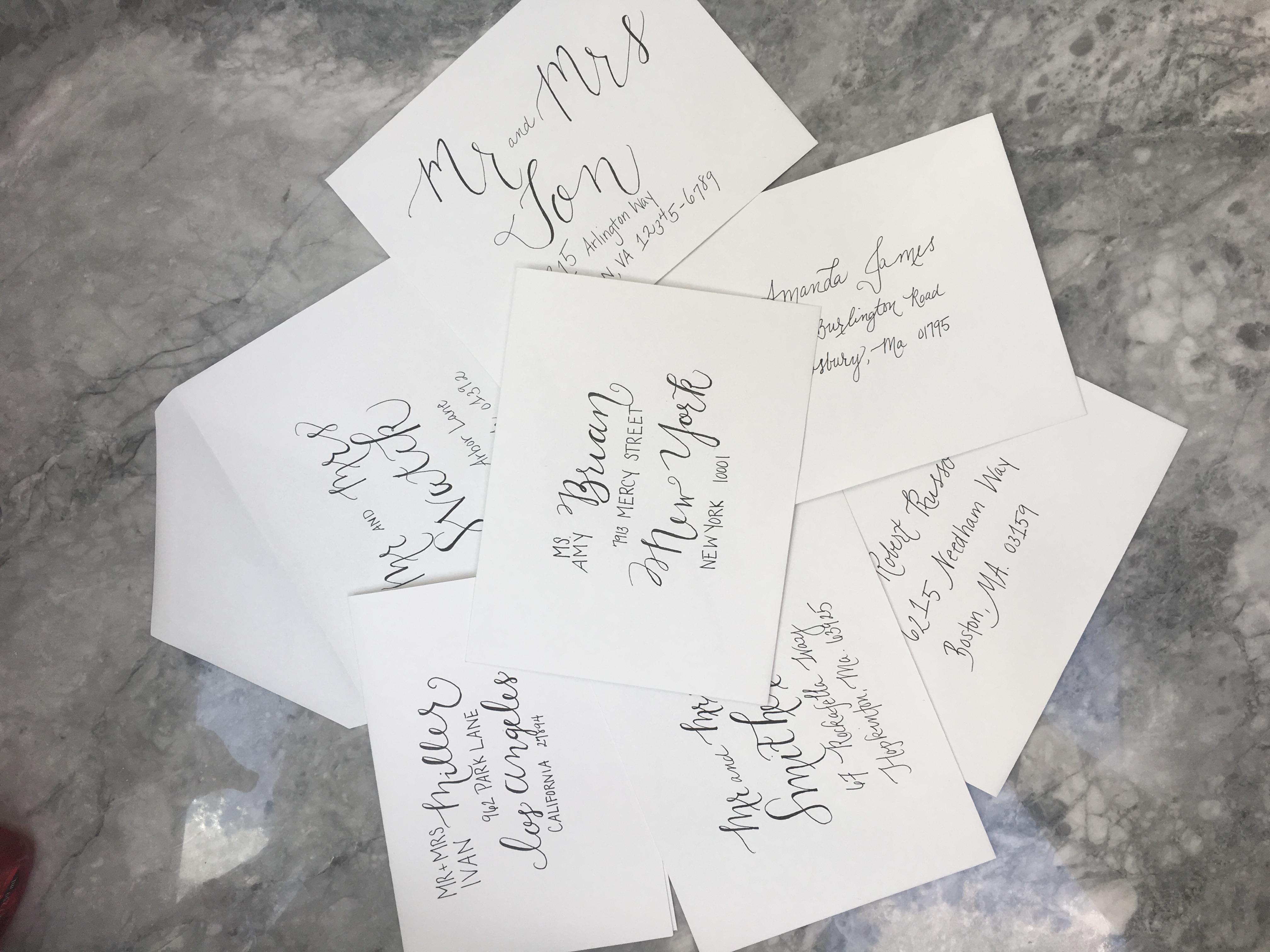 Custom Hand lettering Samples