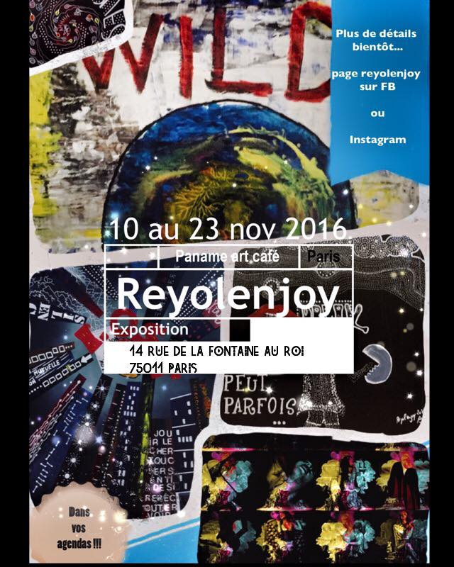 affiche expo Paname art café