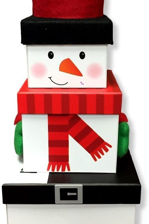 Snowman stacking box