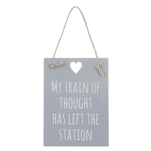 small hanging sign