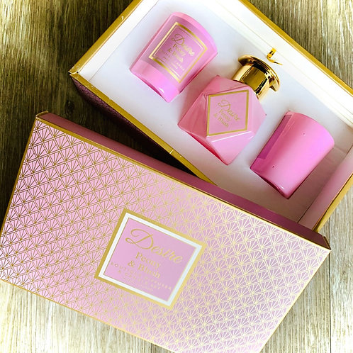 Boutique Diffuser & Candle set - Peony & Blush