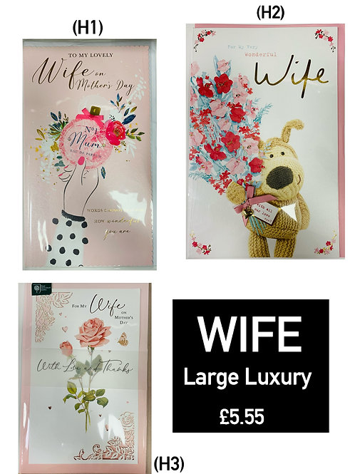 Mother's Day Cards -WIFE LUXURY CARDS £5.55