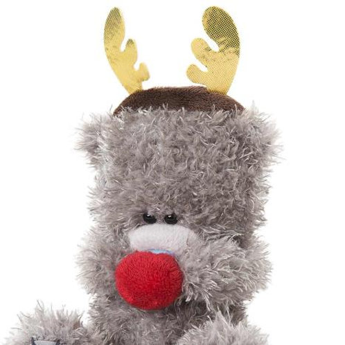 Tatty Teddy -Reindeer ears and nose