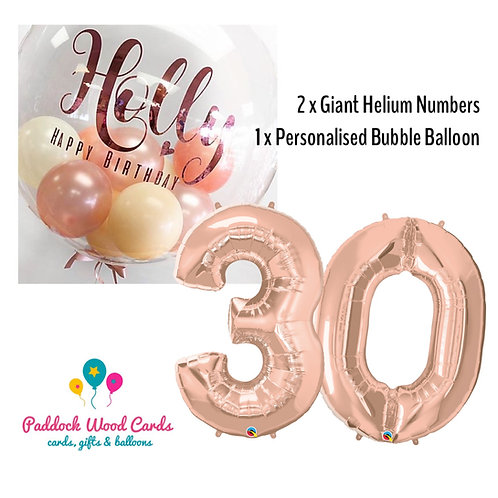 Personalised Bubble & Number Balloons