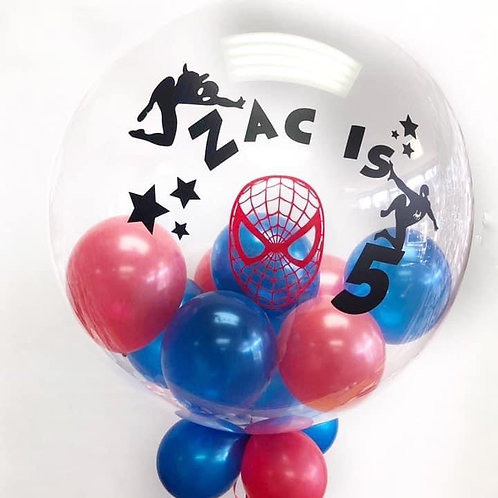 "Superhero birthday - Bubble ""Gumball"" Balloon"