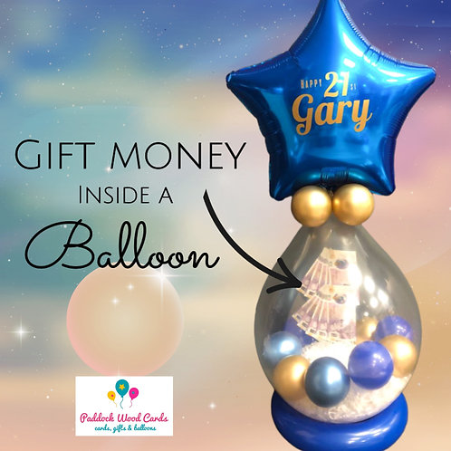Money Filled Balloon - Any colour
