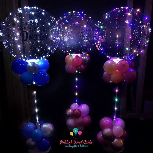 Light Up Balloons - Personalised on stand (ANY THEME)