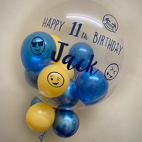 "Emoji - Bubble ""Gumball"" Balloon"