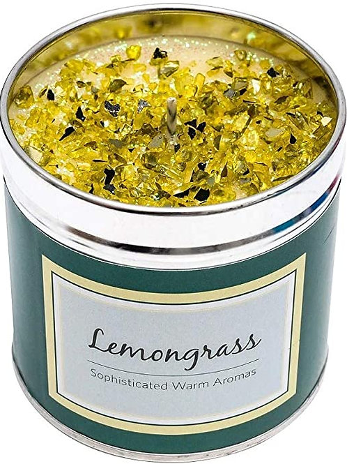 Luxury tinned candle- lemongrass
