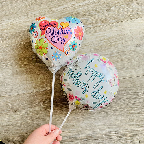 1 x Mini Balloons on Stick - perfect to add to a gift or flowers