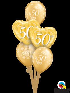 50th Golden Anniversary Bouquet (5 balloon)