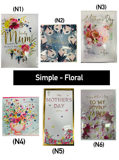 Mother's Day Cards -SIMPLE FLORAL