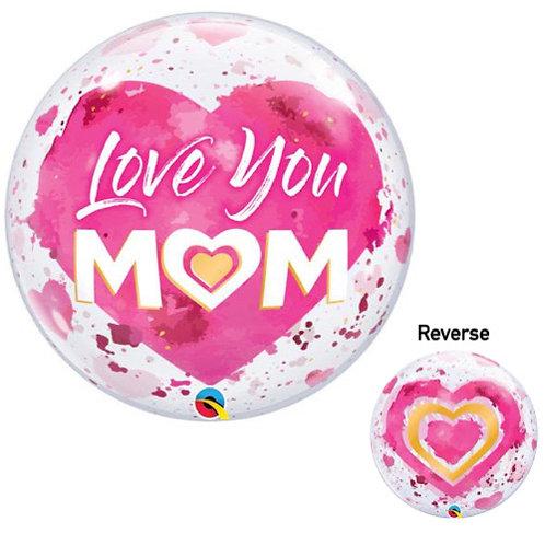 "Bubble Balloon 22"" Clear printed balloon with collar"