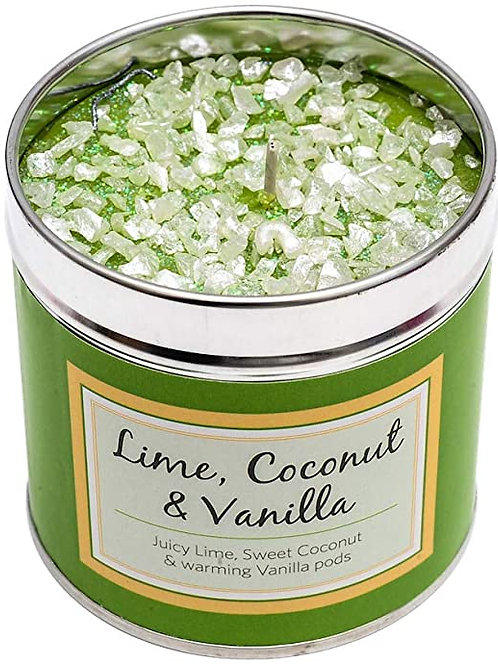 Luxury tinned candle- Lime, coconut and vanilla