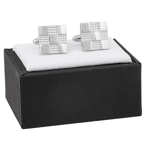 Men Square Checked Cufflink