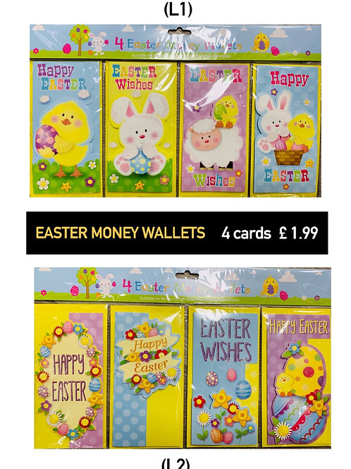 Easter - Money Wallets - 4 per pack