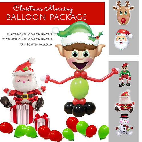 Christmas morning balloon package