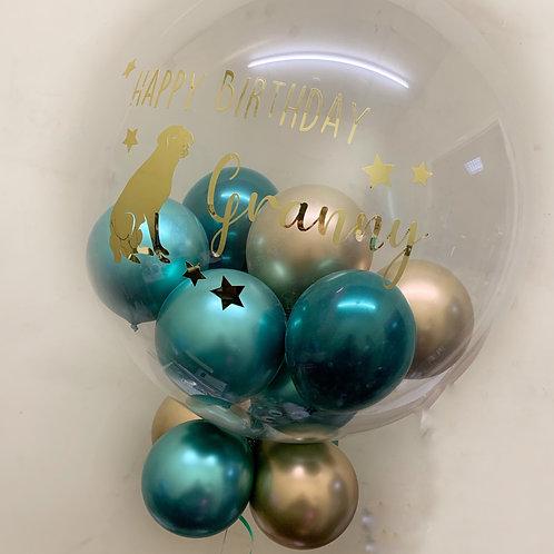"""Granny Birthday - Bubble """"Gumball"""" Balloon"""