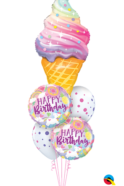 Ice Cream 5 Balloon Bouquet