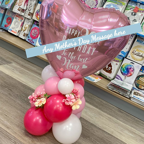 Mother's Day - Table Top Heart Design (Can be personalised)