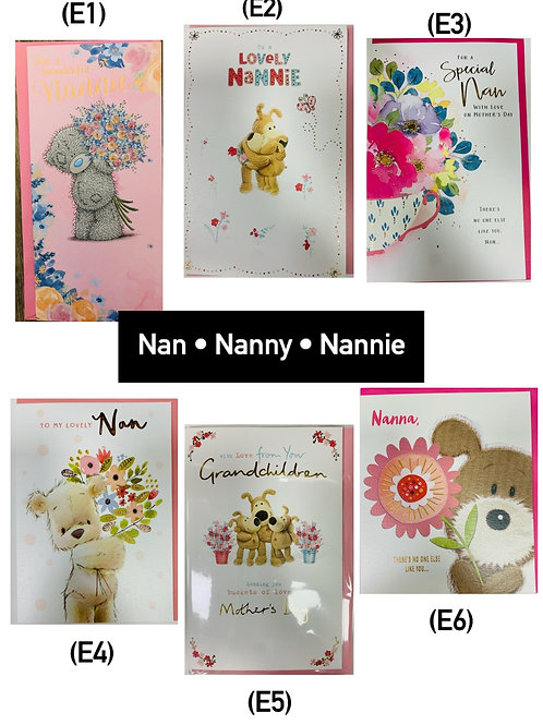Mother's Day Cards -Nan/Nana/From Grandchildren