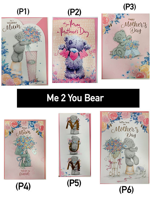 Mother's Day Cards -ME 2 YOUR BEAR