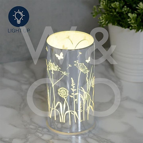 Glass flower light up (requires batteries)