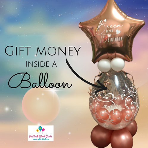 Money Filled Balloon - Personalised (Any colour)