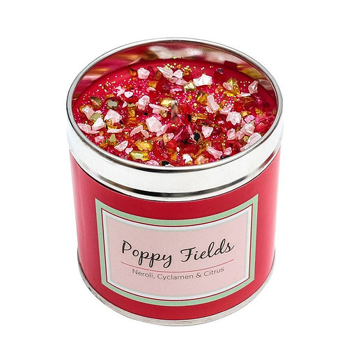 Luxury tinned candle- poppy fields