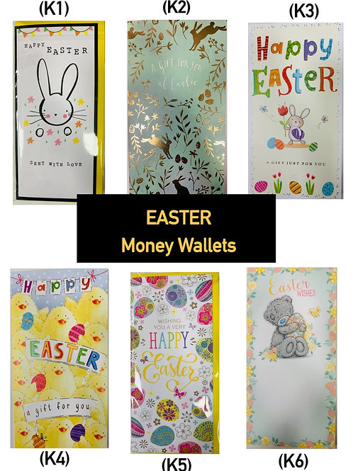 Easter - Money Wallet (Singles)  Ask for Prices (89p - £1.49)